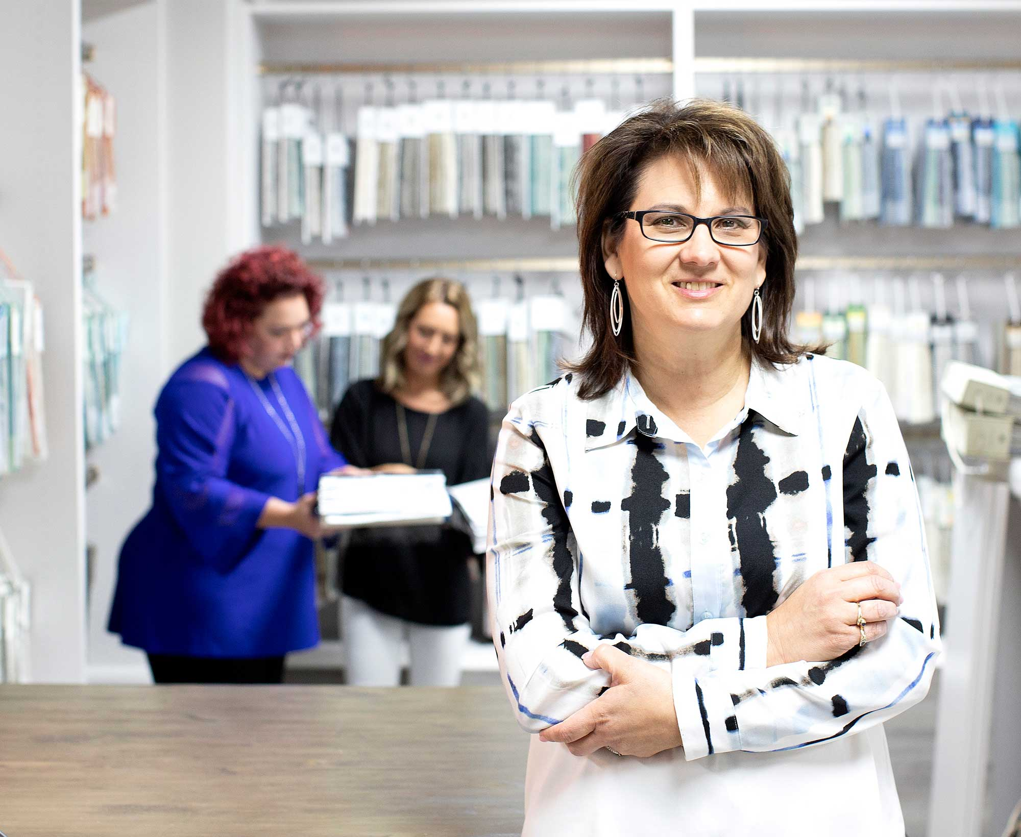 Interior Fancies President Kathy Shenk